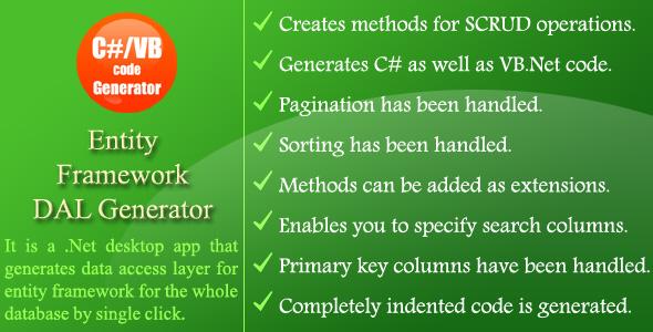 Entity Framework DAL Generator - CodeCanyon Item for Sale