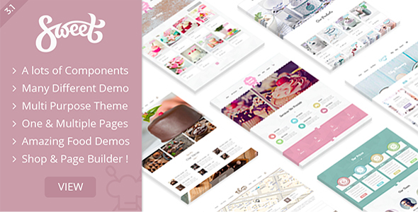 Sweet Cake - WP Theme For Bakery Yogurt Chocolate & Coffee Shop - Food Retail