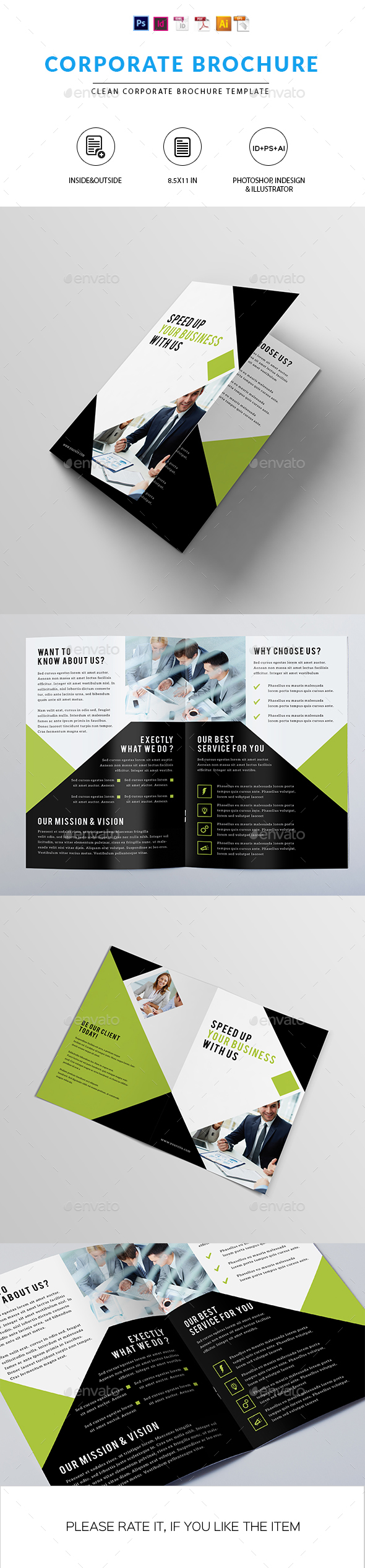 Clean Corporate Brochure - Corporate Brochures