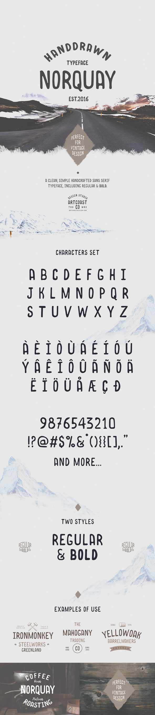 Norquay - Hand Drawn Font - Handwriting Fonts