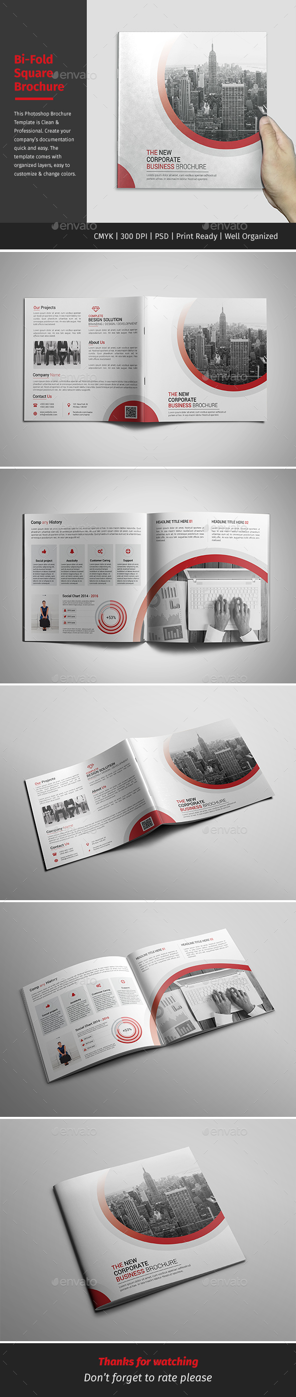 Corporate Bi-fold Square Brochure 04 - Corporate Brochures