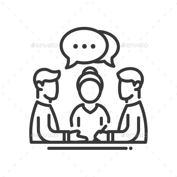 Business Meeting Single Icon - Business Icons