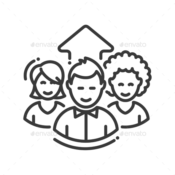 Business Team Work Single Icon - Business Icons