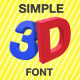 3D Simple Swinging Font - VideoHive Item for Sale