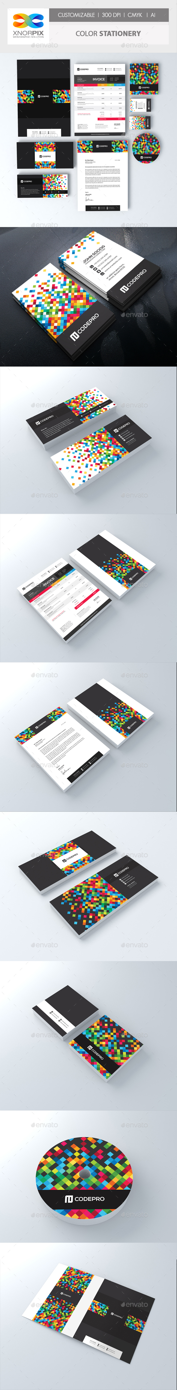 Color Corporate Identity - Stationery Print Templates