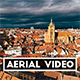 Aerial Shot of an Old French Town - VideoHive Item for Sale