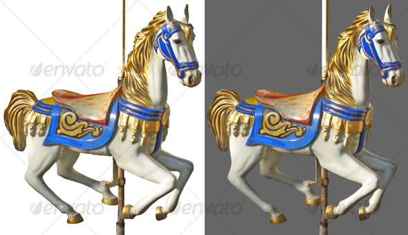 Carousel horse - Activities & Leisure Isolated Objects