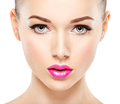 Closeup face of beautiful woman with pink lips - PhotoDune Item for Sale
