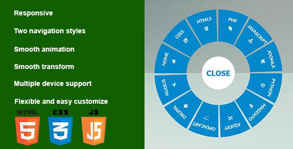 Responsive CSS3 Circular Navigation - CodeCanyon Item for Sale