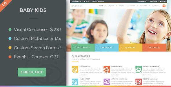 15+ Kindergarten and Elementary School WordPress Themes 2019 16