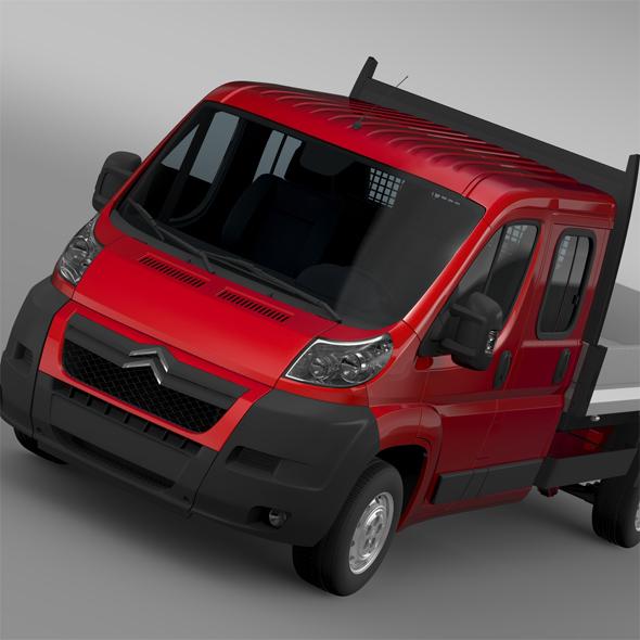 Citroen Jumper Crew Cab Truck 2009-2014 - 3DOcean Item for Sale