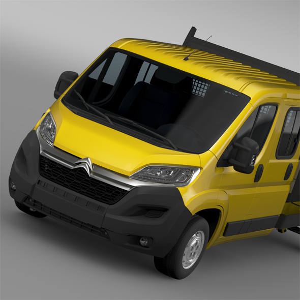 Citroen Jumper Crew Cab Truck 2016 - 3DOcean Item for Sale