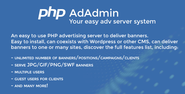 AdAdmin - Easy adv server - CodeCanyon Item for Sale