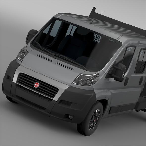 Fiat Ducato Crew Cab Truck 2009-2014 - 3DOcean Item for Sale