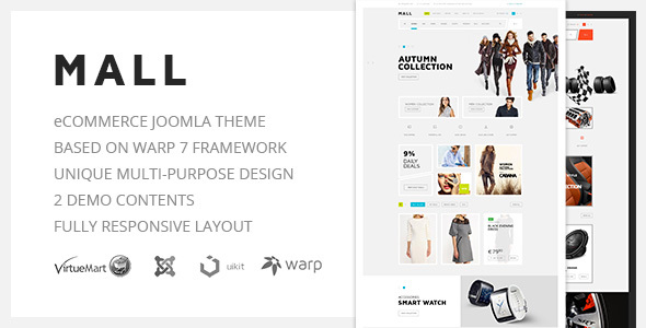 Image of Mall — Multi-Purpose eCommerce Responsive Joomla Template