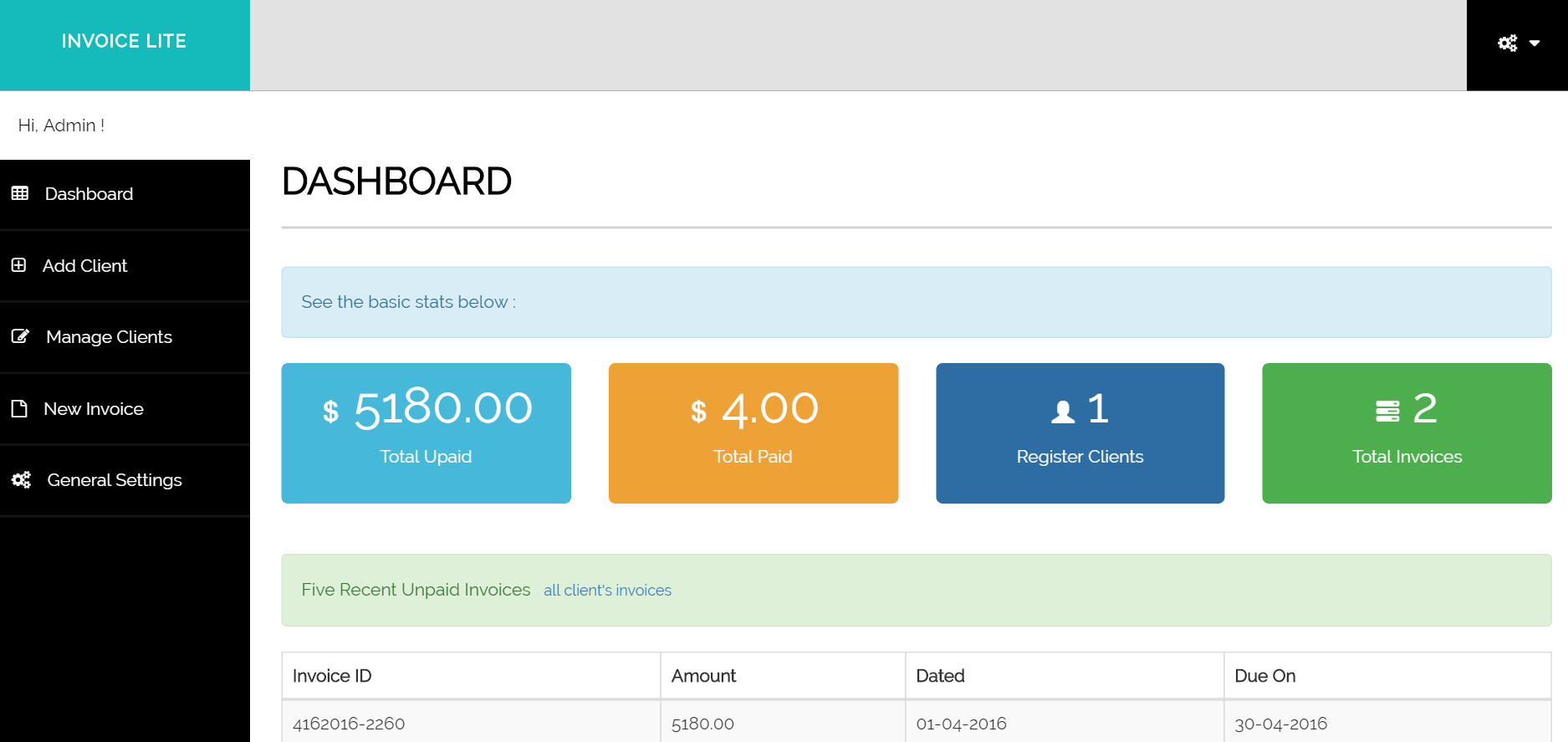 Invoice Manager - Lite by PureStuff | CodeCanyon