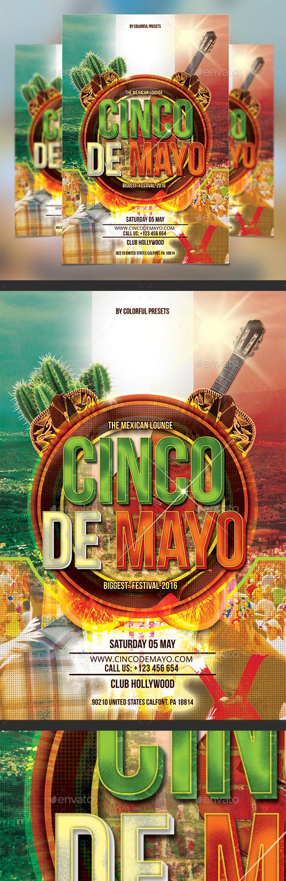 Cinco de Mayo Party Flyer - Clubs & Parties Events