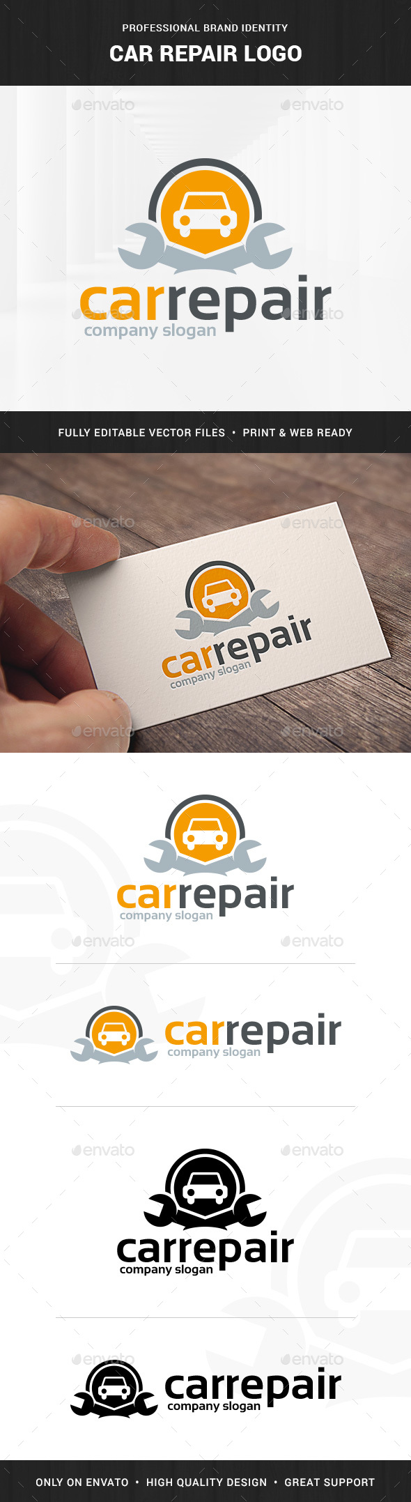 Car Repair Logo Template - Objects Logo Templates