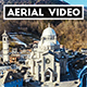 Aerial Shot of an old Italian Cathedral  - VideoHive Item for Sale