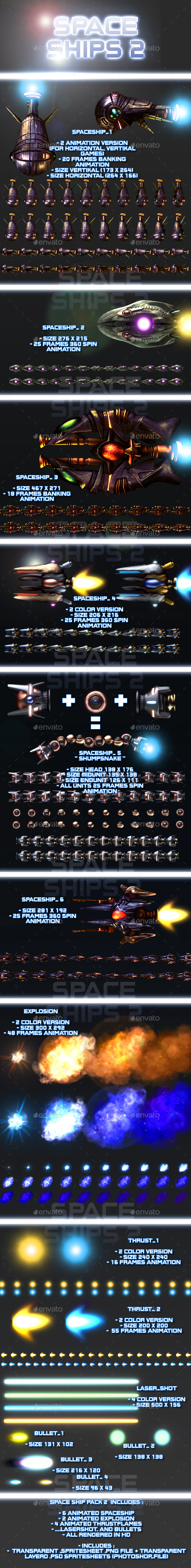 Spaceship Pack 2 - Sprites Game Assets