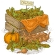 Bulb Onion  Ripe Pumpkins And Wooden Box - GraphicRiver Item for Sale