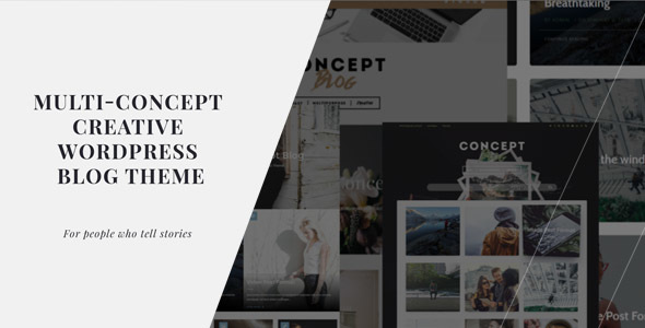 Concept Blog - Powerful Creative WordPress Theme - Blog / Magazine WordPress