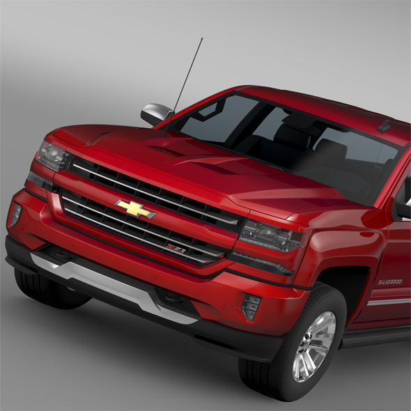 Chevrolet Silverado LTZ Z71 Crew Cab (GMTK2 ) St Box 2016 - 3DOcean Item for Sale