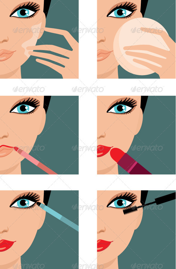Makeup-icons - Health/Medicine Conceptual