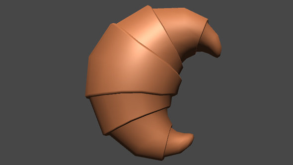 Croissant for Game - 3DOcean Item for Sale