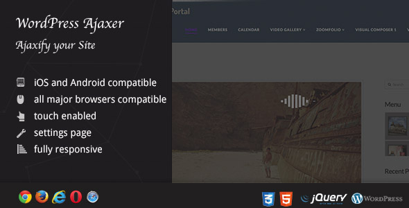 Ajaxer - Ajaxify Your WordPress Site and Comments - CodeCanyon Item for Sale