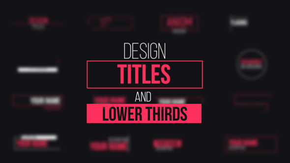 Design Titles And Lower Thirds By Aniom
