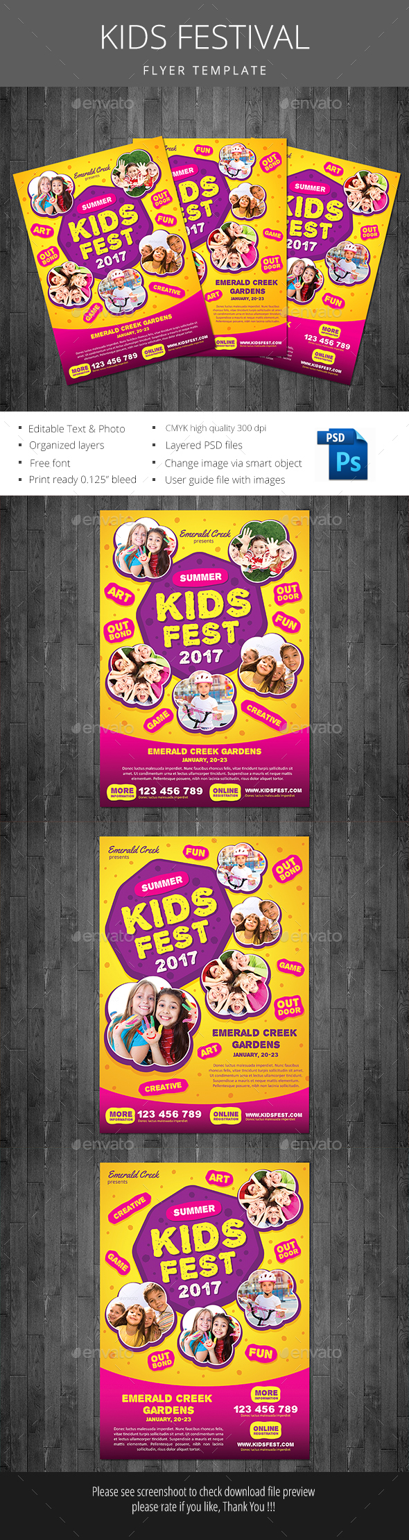 Kids Festival - Events Flyers