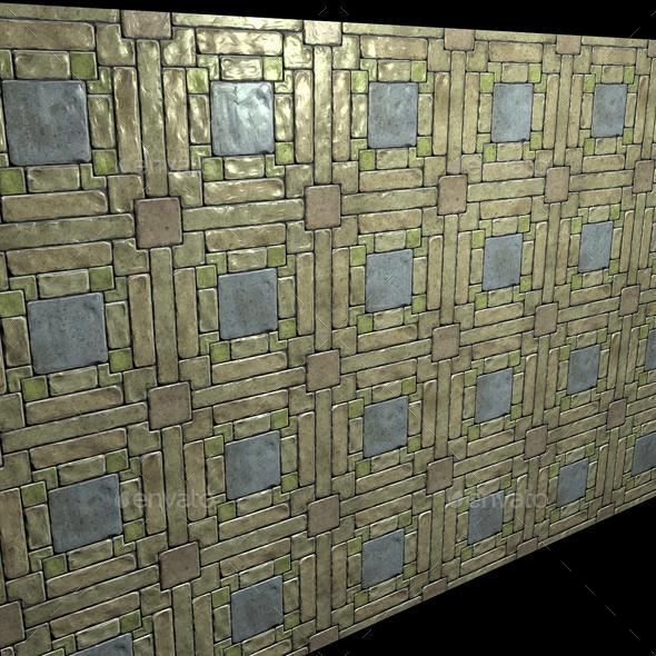 Pattern Stone Floor Tile - 3DOcean Item for Sale
