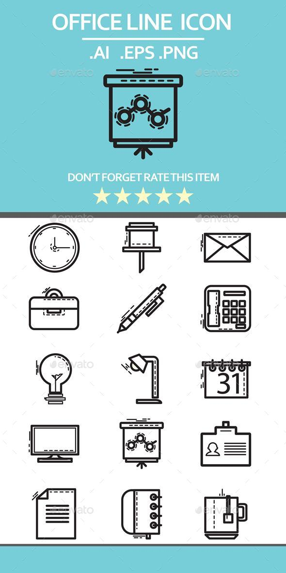 Office Line Icon - Business Icons