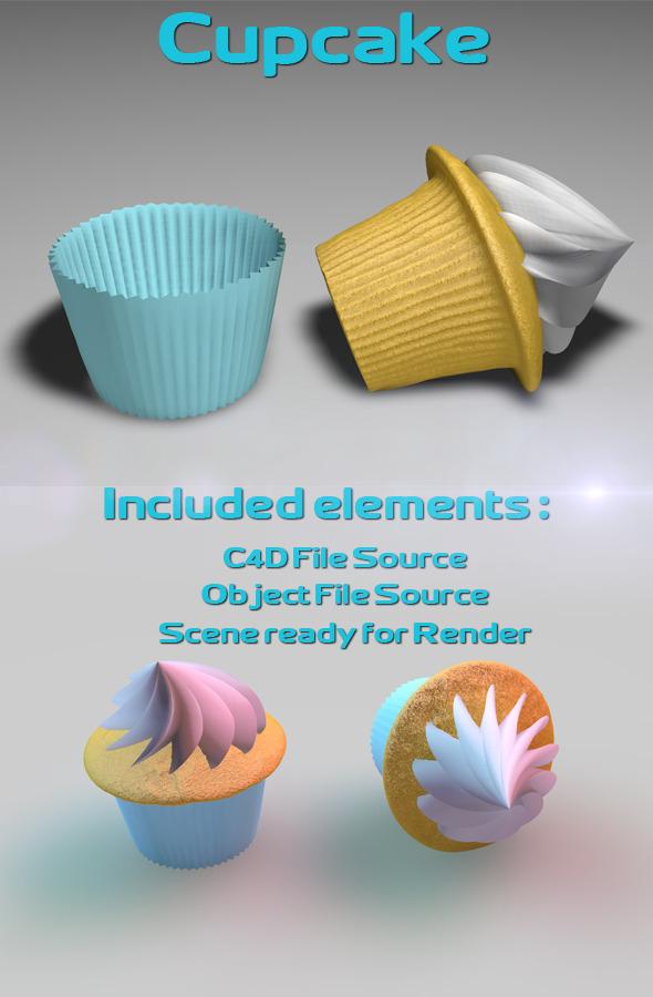 Cupcake Model - 3DOcean Item for Sale