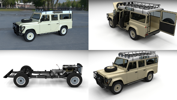 Land Rover Defender 110 Station Wagon HDRI - 3DOcean Item for Sale