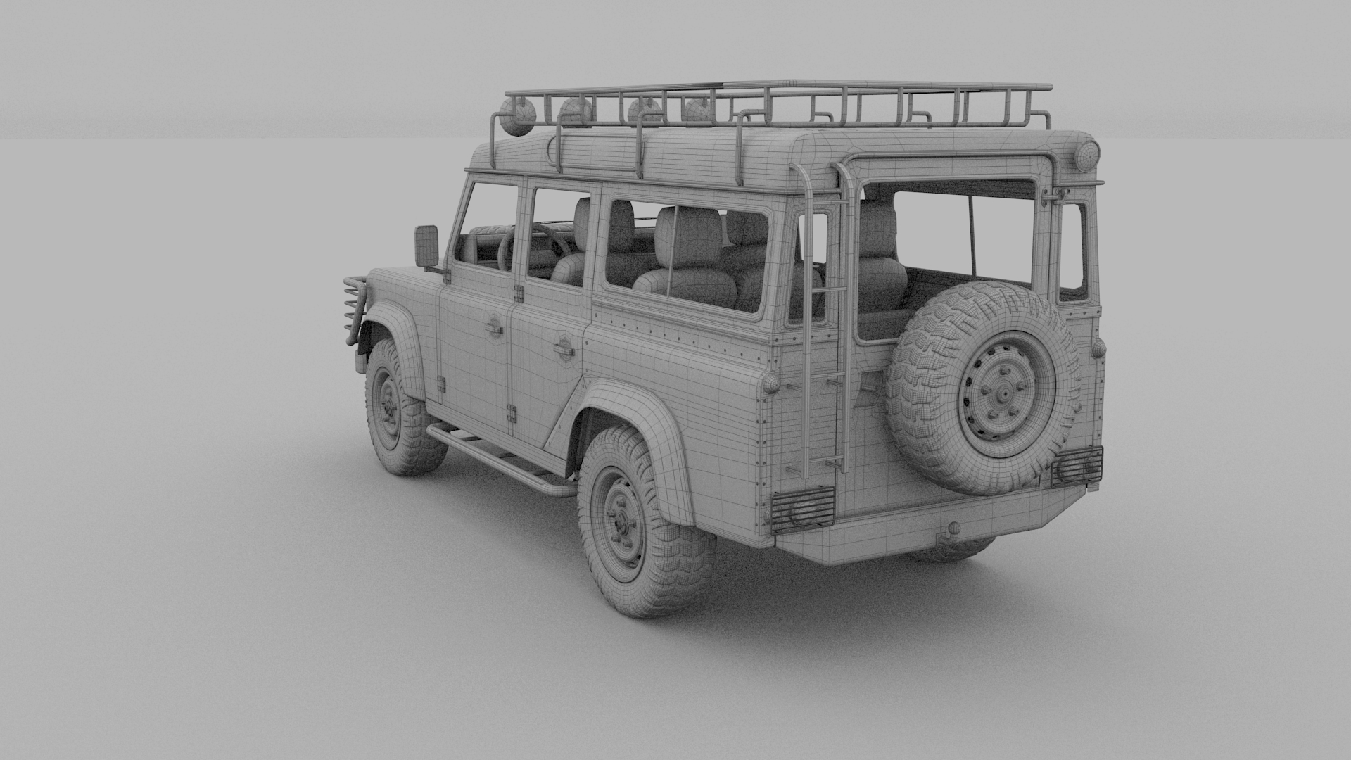 Land rover defender 110 station wagon w interior hdri by for Interior land rover defender