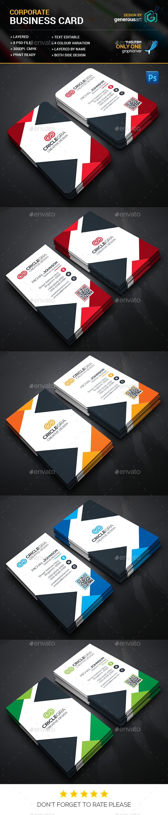 Triangle business cards by generousart graphicriver triangle business cards corporate business cards wajeb Images