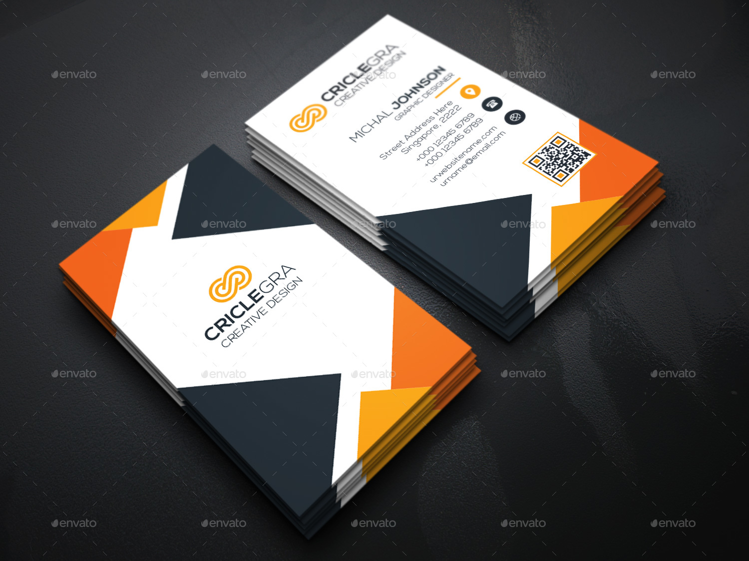 Triangle Business Cards by generousart | GraphicRiver