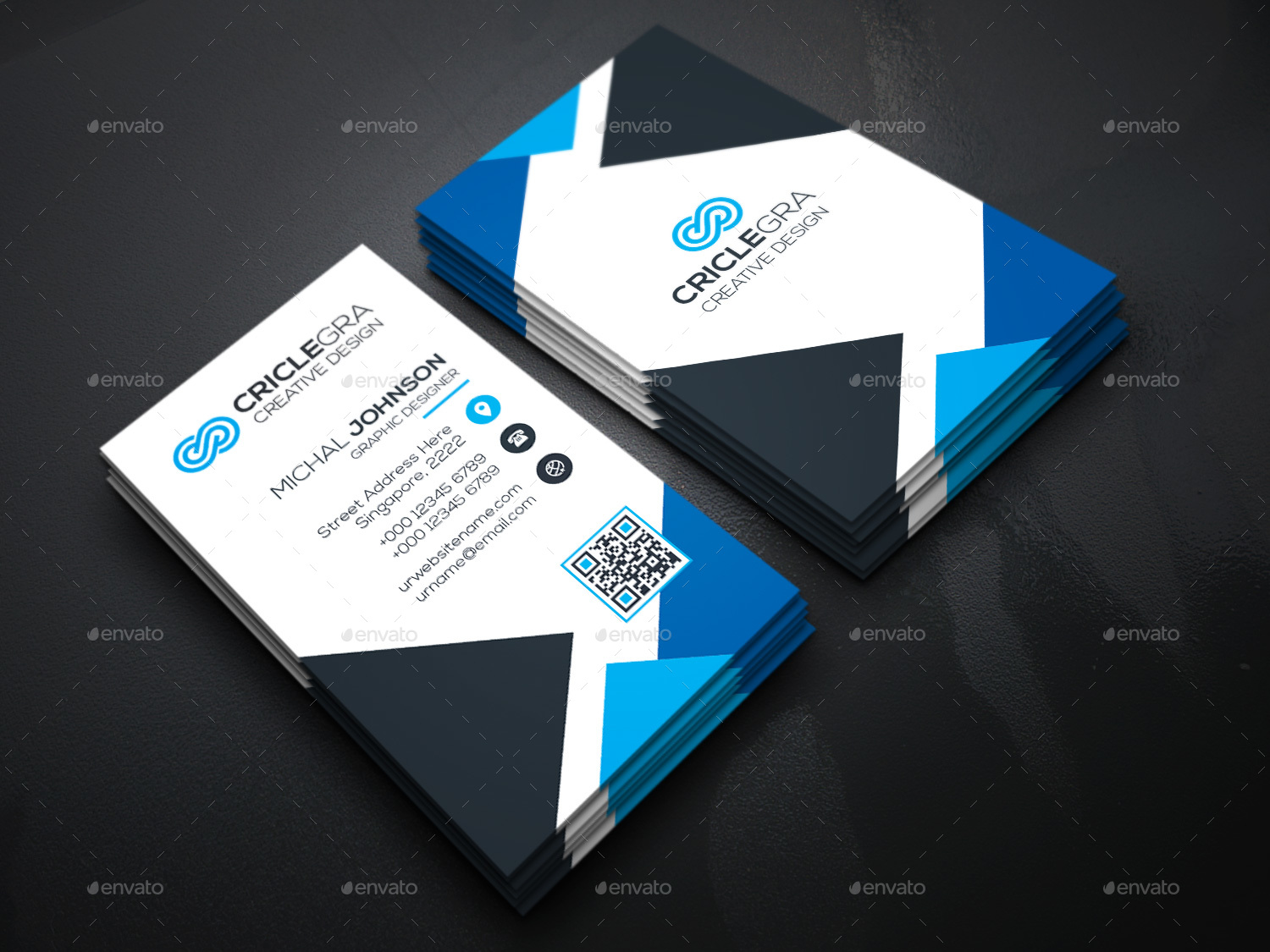 Triangle business cards by generousart graphicriver image set04technology business cardg magicingreecefo Gallery