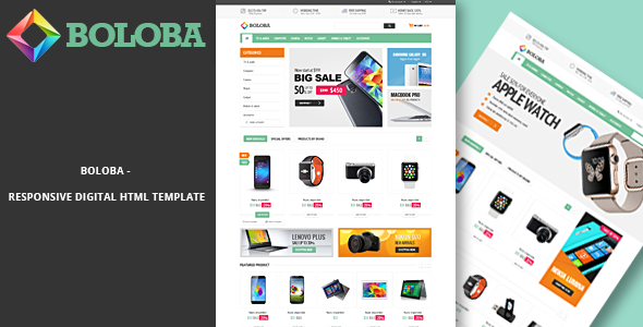 Image of Boloba - Responsive Digital HTML Template