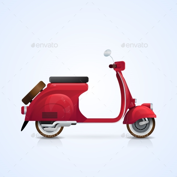 Electrical Scooter Retro Electric Transport - Man-made Objects Objects