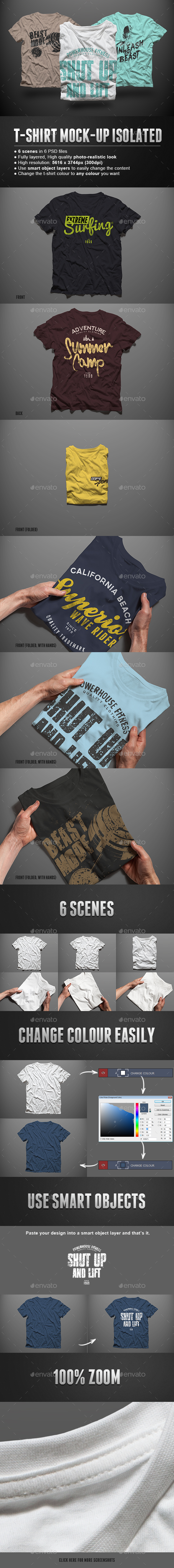 T-shirt Mock-up Isolated
