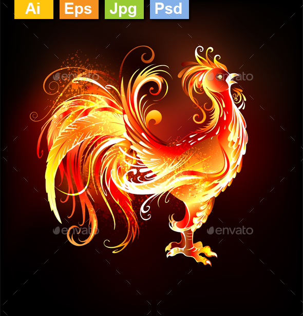 Fire Rooster - Animals Characters