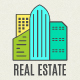 Real Estate Badges Set. LineArt - GraphicRiver Item for Sale