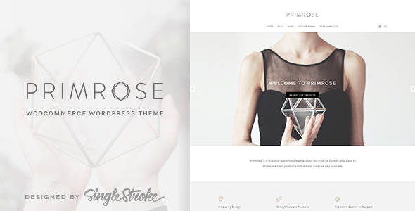 Primrose – A Minimal WooCommerce WordPress Theme for Creative eCommerce Websites