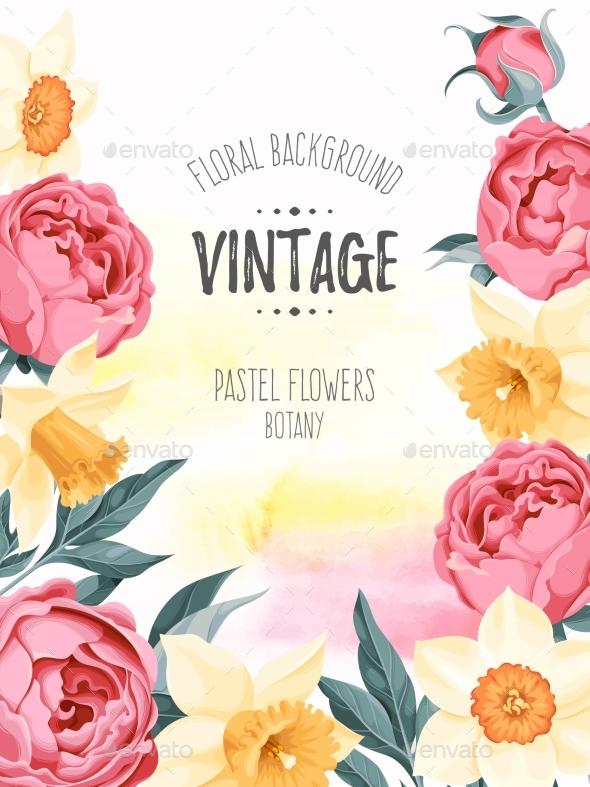 Vintage Vector Background - Backgrounds Decorative