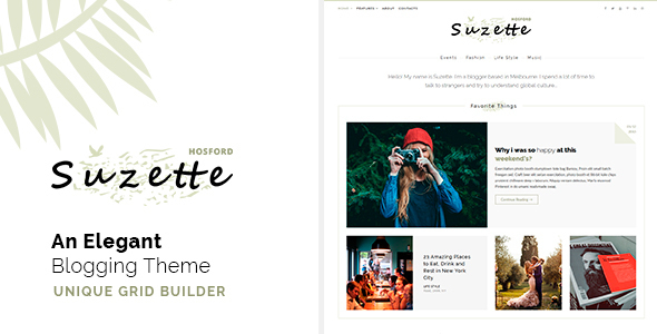 Suzette - An Elegant Blogging Theme - Just another HTML Template - Personal Site Templates