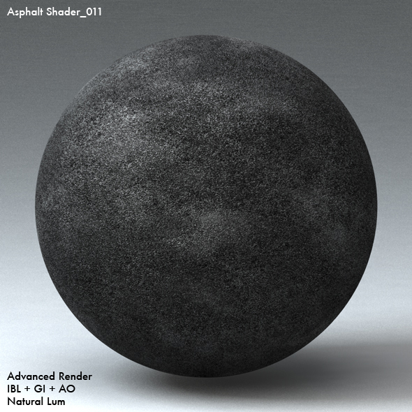 Asphalt Shader_011 - 3DOcean Item for Sale