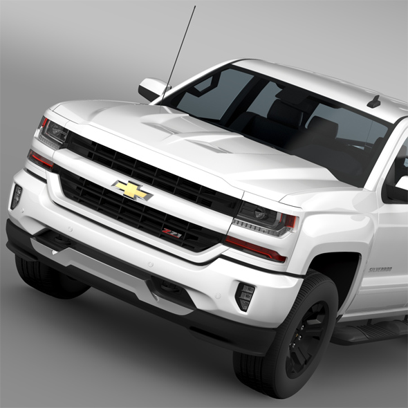 Chevrolet Silverado LT Z71 Crew Cab GMTK2 Short Box 2016 - 3DOcean Item for Sale